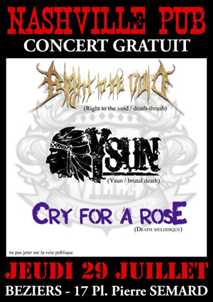 RIGHT TO THE VOID au Nashville (beziers)