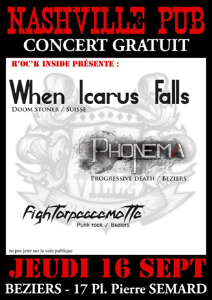 WHEN ICARUS FALLS live beziers 16/09/2010